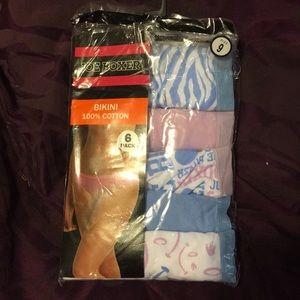 Cutie pattootie panties.  New in packaging 5 pair!